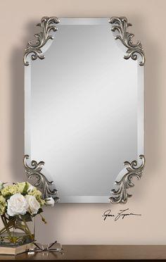 Andretta Baroque Silver Mirror
