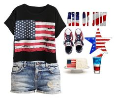 """""""4TH OF JULY PARTY!!"""" by hannah-purple ❤ liked on Polyvore featuring Chicnova Fashion and Converse"""
