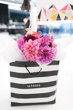 Sephora gift bag from a Modern Glam Sephora Party via Kara's Party Ideas KarasPartyIdeas.com (36)