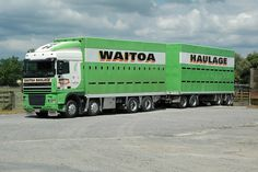 DAF, Waitoa Haulage, Waitoa. | Seen here backing in to their… | Flickr