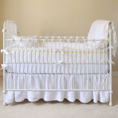 Pom Pom at Home Crib Bedding Belle Linen Crib Duvet @Layla Grayce