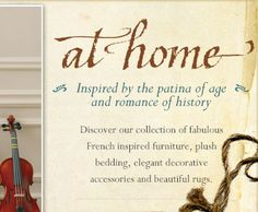 at home - inspired by the patina of age and romance of history