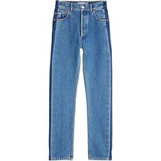 Balenciaga High-Rise Straight Leg Jeans (1 935 PLN) ❤ liked on Polyvore featuring jeans, pants, bottoms, balenciaga, blue, highwaist jeans, blue jeans, high rise straight leg jeans, straight leg jeans and high rise jeans