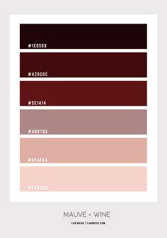 Mauve and Red Wine Color Scheme For Bedroom Color Palette For Home, Pastel Colour Palette, Colour Pallette, Mauve Color, Paint Colors For Home, Red Color Schemes, Bedroom Color Schemes, Bedroom Colors, Color Combos
