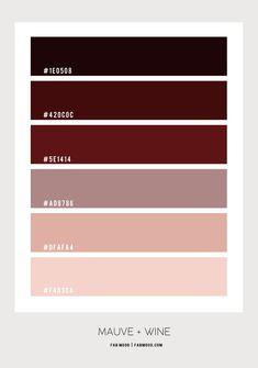 Mauve and Red Wine Color Scheme For Bedroom Color Palette For Home, Pastel Colour Palette, Colour Pallette, Mauve Color, Paint Colors For Home, Red Color Schemes, Bedroom Color Schemes, Color Combos, Pantone Colour Palettes