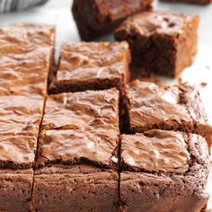 In these ultra fudgy brownies, coffee granules bump up the chocolate flavor. Add chocolate chips to the batter and you've got irresistible treats. —Sarah Thompson, Greenfield, Wisconsin