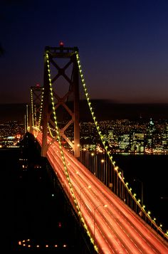 Bay Bridge, San Francisco - born and raised in the Bay Area baby….