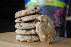 White Chocolate and Cranberry Cookies @shugarysweets