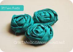 http://www.craftaholicsanonymous.net/fabric-rosettes-tutorial