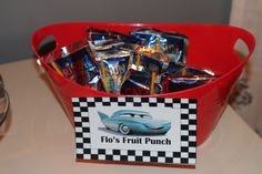 Disney Cars/Lightening McQueen Toddler Birthday Party - juice boxes in a dollar birthday boy party ideas. More in my web site Disney Cars/Lightening McQueen Toddler Birthday Party - juice boxes in a dollar . Car Themed Parties, Cars Birthday Parties, Boy Birthday, Birthday Ideas, Birthday Recipes, Third Birthday, Fruit Birthday, Birthday Crafts, Disney Cars Party