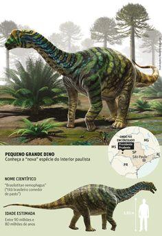 Species New to Science: [Paleontology • 2013] Brasilotitan nemophagus • A new titanosaur sauropod from the Late Cretaceous of Brazil