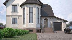 Дизайн проект фасада частного дома в стиле ампир