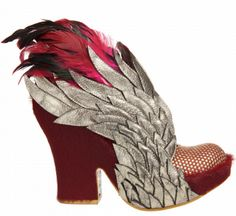 A fiercely feathered little wedge.