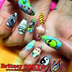 coachella Nail Art by Britney TOKYO ☆ ✌ ✿ ✡ ✟ ☺ ✞ TOKYO meets Hollywood ✞ ☺ ✟ ✡ ✿ ✌