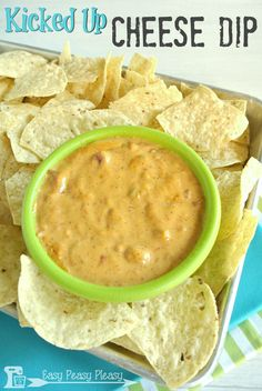 This ain't your momma's boring old cheese dip. Try this Kicked Up Crockpot Velveeta Cheese Dip. It will change your life.