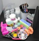 18in1 Color Acrylic Powder Liquid Nail Art Tips Files Buffer Pen Tools Kit USPS