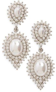 Samantha Wills 'Velvet Nights' Faux-Pearl Drop Earrings