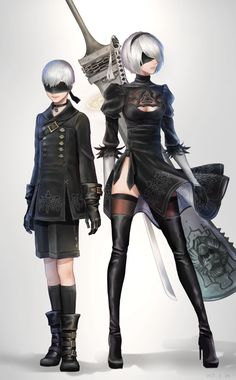 NieR Automata and Nier Characters, Female Characters, Cosplay, Game Character, Character Design, Queen Anime, Mileena, Drawn Art, Manga Anime