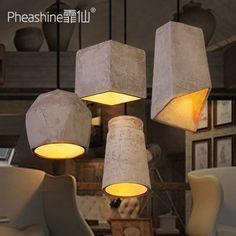 MACSIUIl nero di seppia Ristorante Lounge industriale lampade creative Nordic arte minimalista cafe lampadari di cemento poligono