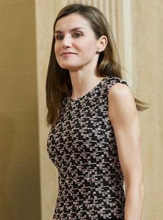 June 8, 2017, Queen Letizia of Spain met with representatives of Balonmano Remudas Club at the Zarzuela Palace in Madrid.