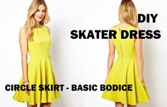 DIY | HOW TO MAKE A SKATER DRESS (CIRCLE SKIRT) I'll probably make the dress a little longer past the knee and some sleeves