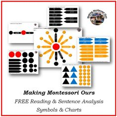 Sharing some of our Sentence Structure work with you today and FREE Sentence & Reading Analysis materials! The Effective Pictures We Offer You About Montessori Materials art A quality picture can tell Montessori Homeschool, Montessori Elementary, Montessori Classroom, Montessori Activities, Homeschooling, Dinosaur Activities, Elementary Teaching, Montessori Toddler, Preschool Math