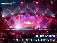 Das Line-Up der Baloise Session 2017 ist bekannt! Alle Infos auf http://www.ticketcorner.ch/baloise-session