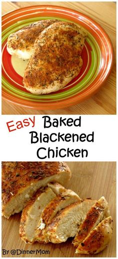 Baked Blackened Chicken is kissed with a touch of honey. Easy recipe with ideas for lots of ways to use this for lunch and dinner!