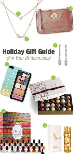 Holiday gift guide for wedding party