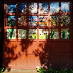 Fall Creek, Ithaca. A door at Serviente Glass Studios http://www.servienteglassstudios.com