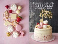 Lehký narozeninový dort pro holčičky Birthday Cake, Sweets, Blog, Cakes, Gummi Candy, Scan Bran Cake, Birthday Cakes, Candy, Kuchen