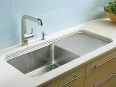 Kohler Prologue Single bowl sink with work surface on right K-3592