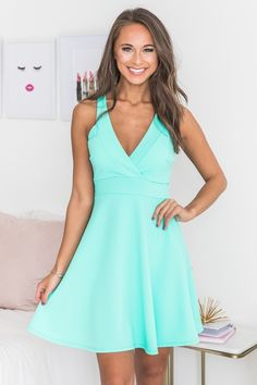 Back To Yesterday Dress Mint New Wardrobe, Wardrobe Ideas, Dress Skirt, Dress Up, Mint Dress, Online Clothing Boutiques, Pink Lily, Mint Color, Retro Dress