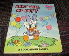 DISNEY BABIES, WHAT WILL WE EAT? A BOARD BOOK ABOUT TASTES, GREAT READ, GUC