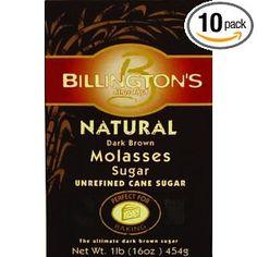 Billington's Natural Dark Brown Molasses Sugar, 16-Ounce Bags (Pack of 10), $21.00