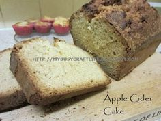 My busy craft life: Recipe - Apple Cider Cake