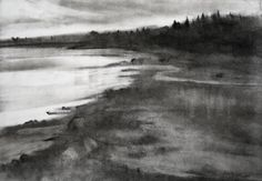 expressive charcoal landscapes - Google Search