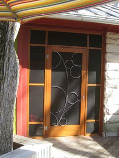 Fix screen door/ hide patches with wire design modern screen doors by Susan Wallace