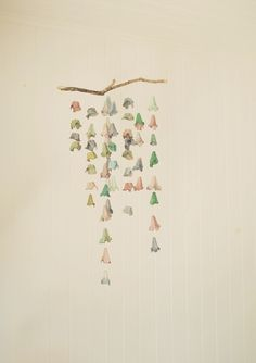 wall hanging made from egg cartons and coloured with food dye, via willowynn