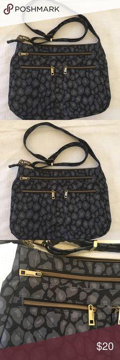Mini Leopard Shoulder Bag Handbag With Organizer By Travelon Purse New