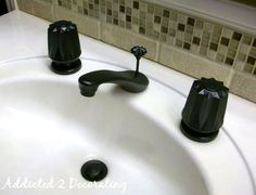 Before & After: Spray Painting Bathroom Faucets Addicted 2 Decorating   Apartment Therapy