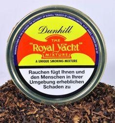 Pfeifentabak Dunhill Royal Yacht. Zitronen- und bronzefarbene Virginia-Blätter mischen sich mit gepreßten roten Virginia-Tabaken für eine feine Süße. Leicht geflavoured.