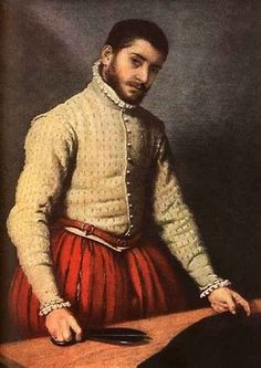 Moroni, Giovanni Battista - The Tailor - Renaissance (Late, Mannerism) - Oil on canvas - Portrait - National Gallery - London, UK Costume Renaissance, Renaissance Portraits, Renaissance Paintings, Renaissance Men, Italian Renaissance, Renaissance Clothing, Italian Fashion, European Fashion, Greek Fashion