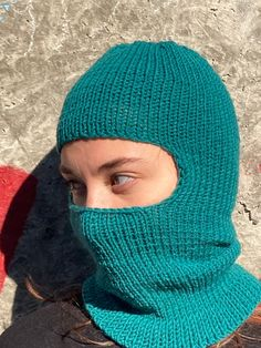 Knitted Balaclava, Knitted Hats, Full Face Mask, Neck Warmer, Hand Knitting, Hand Weaving, Gifts For Her, Winter Hats, Handmade Products