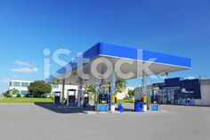 Modern Blue Service Station royalty-free stock photo Royalty Free Images, Royalty Free Stock Photos, Modern, Blue, Photography, Trendy Tree, Fotografie, Photography Business, Photo Shoot