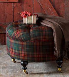 EA Holiday Luxury Home Decor by Eastern Accents - stool # Tartan # Plaid # Scotland