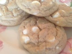 Ultimate WHITE CHOCOLATE CHIP COOKIES * thick, soft FROM SCRATCH cookies with WHITE CHOCOLATE PUDDING mix and WHITE CHOCOLATE CHIPS ** leftover cookie dough can be refrigerated and used another day **