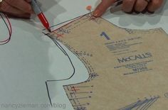 Nancy Zieman shows how to fit a sewing pattern in Solving the Pattern Fitting…