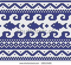 Seamless knitted marine pattern . EPS 8 vector illustration.