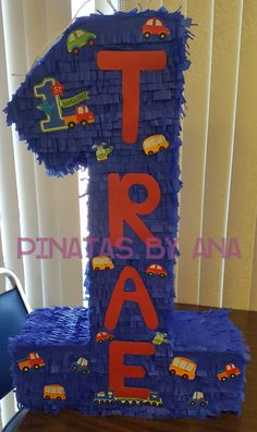 First birthday pinata Cars trucks piñata